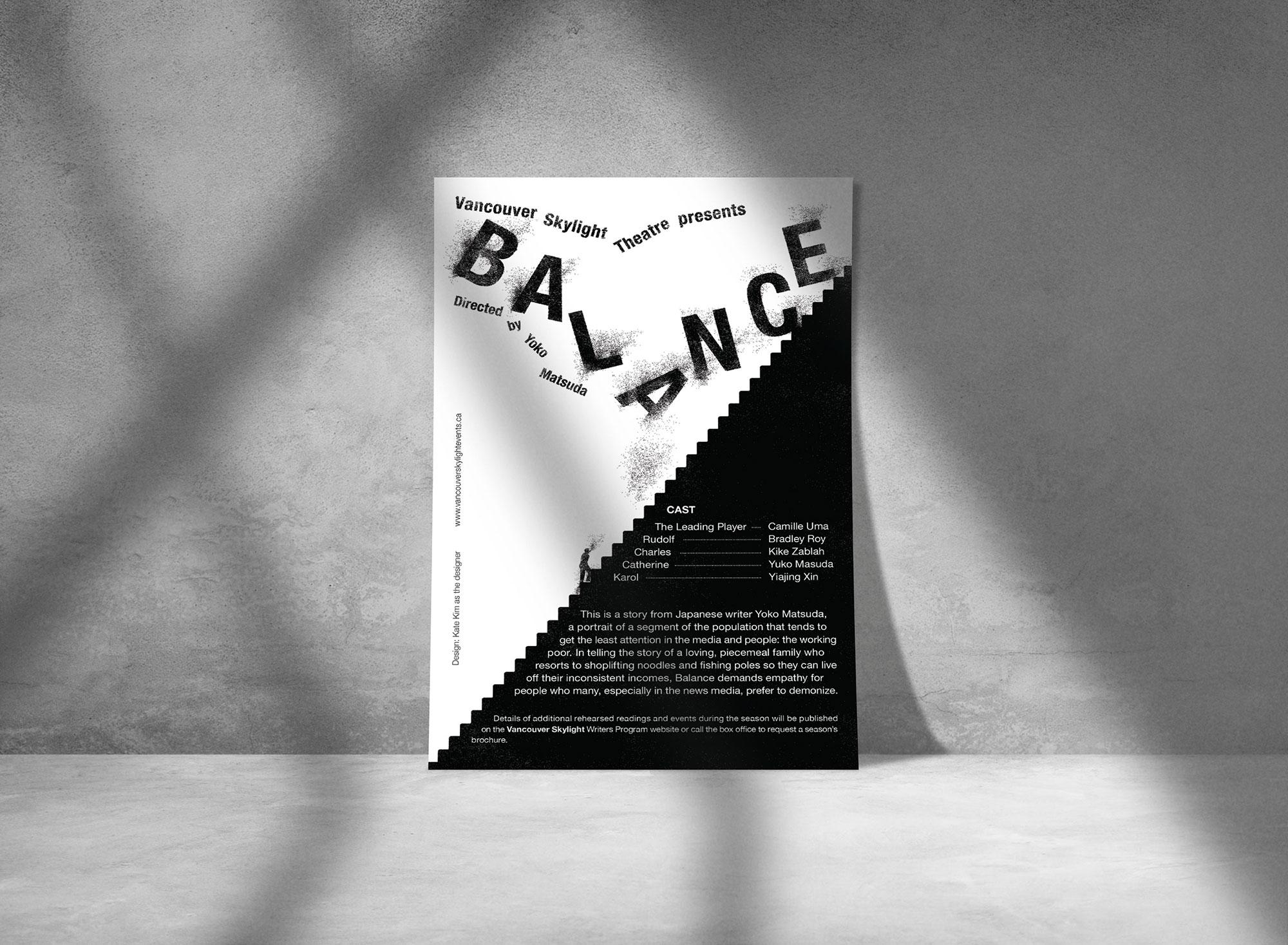 """Program Cover Design - """"Balance"""""""