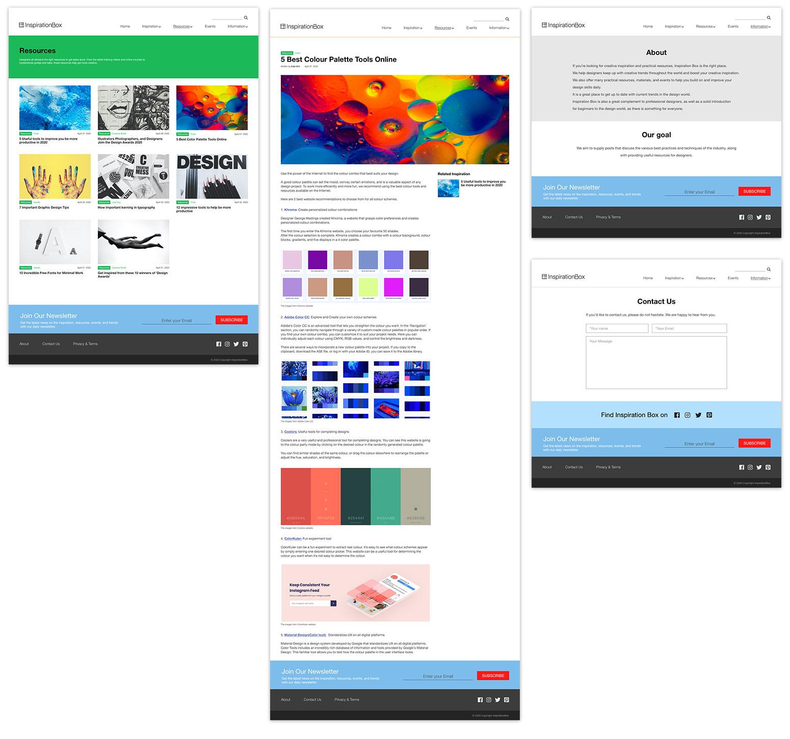 Inspirationbox.ca Website Design